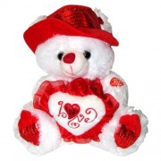 """Musical """"I Love You"""" Teddy Bear with Red Hat (11"""") Plays """"The Love Song"""" - Best Valentines Day Gifts: Valentines Day Gifts for Her, Valentines Day Gifts for Him, Valentines Day Gifts for Girlfriend, Valentines Day Gifts for Boyfriend, Valentines Day Gifts"""