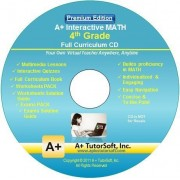 4th Grade Math Full Curriculum Sw Cd Premium Edition (Windows Pc Video Lessons, Interactive Review, Worksheets, Tests, Grading N Tracking) Homeschooling Or Classroom