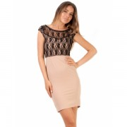 Rochie Share The Lace Beige