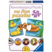 PUZZLE ANIMALE ADORABILE, 9X2 PIESE (RVSPC07331)