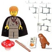 Lego Mini Figure Ron Weasley with (Owl & mushroom color may vary) wand & magic book brick Rare 2002 (Brand NEW)