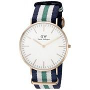 Daniel Wellington 0108DW - Reloj con correa de cadena y acero para mujer, color blanco / gris