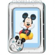 cornice portafoto in argento mickey mouse 13x18 cm