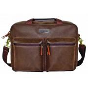 "Troop Suede 15"" Laptop bag with Pockets"