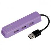 Hub USB 2.0, 1:4, violet, HAMA
