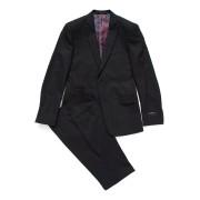 【82%OFF】ピークドラペル スーツ チャコール 36 ファッション > メンズウエア~~スーツ