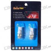 T10 0.75W 5-LED Vehicle Signal Lamp Bulbs (12V White / Pair)