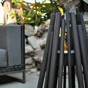 ECOSMART FIRE Cheminée stix à l'éthanol pour extérieur - acier noir