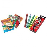 36 Pc Pirate Activity Set ~ 24 Pirate Coloring Books ~ 12 Pirate Crayon Packs ~ Birthday Party Favor ~ Road Trip ~ Camps
