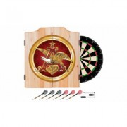 Beer Brand Wood Dart Cabinet Set with Darts and Board Anheuser Busch A & Eagle