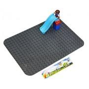 Lego Duplo (Big Dot) Compatible Mega Bloks Compatible Brick Building Base 15 X 10 Drak Gray Baseplate By Fun For Life