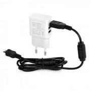 3-USB cargador rapido + Dual Magnetic Loops Micro USB cable de datos - Negro
