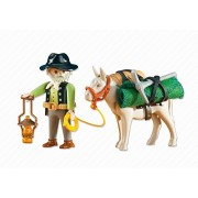 Miner with Donkey
