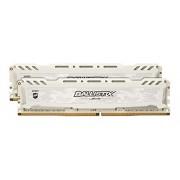 Ballistix Sport LT Kit Memoria da 16 GB (8 GBx2), DDR4, 2400 MT/s, (PC4-19200) DIMM 288-Pin - BLS2C8G4D240FSC, Bianco
