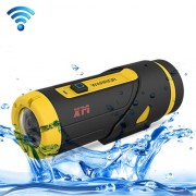 XM Warrior G1 OV4689 1080P 165 Degrees Wide Angle WiFi Sport 3ATM Waterproof Action Camera with Wireless Remote Controller Support 16G Micro SD Card(Yellow)