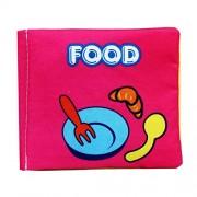 Malloom® blando libro de tela, Bebé Desarrollo de Inteligencia Aprender y leer (food)