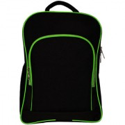 Laptop Carry Bag Backpack 14-15-16 Laptops College Black With Green