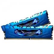 Mémoire LONG DIMM DDR4 G.Skill DIMM 8GB DDR4-3000 Kit bleu, F4-3000C15D-8GRBB, Ripjaws 4 8GB CL15 16-16-35 2 barettes