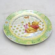 Micimackós lapostányér - porcelán - zöldes