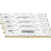 Ballistix Sport LT Kit Memoria da 16 GB (4 GBx4), DDR4, 2400 MT/s, (PC4-19200) DIMM 288-Pin - BLS4C4G4D240FSC, Bianco