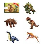 3D three-dimensional puzzle dinosaur series (five pieces) (japan import)