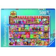 Ravensburger puzzle magazinul de dulciuri, 500 piese