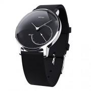 Withings Activite Steel - луксозен швейцарски умен часовник, следящ дневната и нощната ви физическа активност (черен)