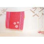 David Fussenegger - Одеяло Juwel - Цветя - червено с розово