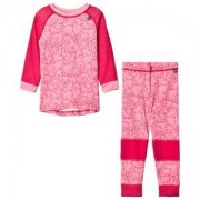 Helly Hansen Pink Kids HH Lifa Merino Set Baselayer 4 years