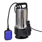 vidaXL Електрическа помпа от неръждаема стомана за отпадни води 1100 W