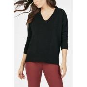 JustFab Cozy V-Neck Pullover Femme Couleur Noir Taille XL JustFab