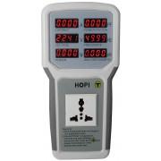 Tester de retea - Voltmetru/Ampermetru/Wattmetru/Frecventmetru