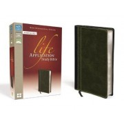 NIV, Life Application Study Bible, Personal Size, Bonded Leather, Black by Zondervan