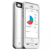 Mophie iPhone 5s / 5 space pack - Husa cu acumulator 1700mAh si memorie 32GB - alb