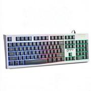 ms-200 de cor deslumbrar backlit acender o jogo é de desktop laptop usb cabo do teclado à prova d'água mute