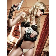 Baci Champagne Underwire Bikini Set with Black Lace Detail 877 - Medium/Large