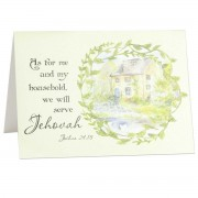 We will serve Jehovah - Joshua 24:15 - (Scriptural Greeting Card)