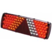 Lampa stop auto dreptunghiulara LED pentru partea stanga -6 functii Pozitie/Frana, Semnalizator, Ceata, Marsarier, Ochi pisica si semnalizator lateral - 24V