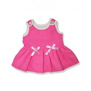 "Girls Pink Pinafore - 6051 Fits 15"" - 16"" bears, includes Build a Bear, The Bear Mill, and Stuff you"