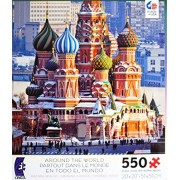 """Ceaco Around The World """"St. Basil, Moscow, Russia"""" Made In Usa Puzzle 550 Pieces"""