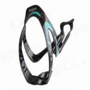 ZIQIAO BCF-1307 de fibra de carbono del agua de la botella del sostenedor del soporte para bicicletas - Negro + azul
