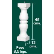 Balaustre de Hormigon Blanco Modelo Roma-B de 12x12x45cm