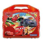 Clementoni 42447 - Valigetta Cars, 24 Cubi, Multicolore
