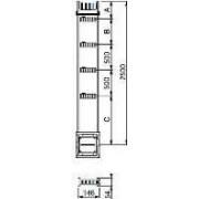 Canalis - lungime distributie coloana verticala -400 a -2,5 m -4 trape derivatie - Bara capsulata-canalis ks - Canalis - KSA400EV4254 - Schneider Electric