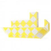 96 bloques magica cubos de la regla rompecabezas cubo juguete de la nave grande - blanco + amarillo
