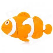 XY-20 Goldfish Style Silicone + Iron USB 2.0 Flash Drive - Yellow + White (4GB)