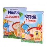 Nestle Pachet Promotional: 5 cereale 250 g + Mic dejun cu cereale si miere 250 g