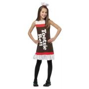 Tootsie Roll Ruffle Dress Child Costume