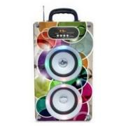 Hordozható Vezeték nélküli Bluetooth 2 hangszóró kijelzővel akkumulátorral Mp3,Rádió, USB, TF kártya, 3,5 jack - Reader-08
