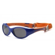 Ochelari de soare Real Kids Shades Explorer - Navy & Orange, 4+